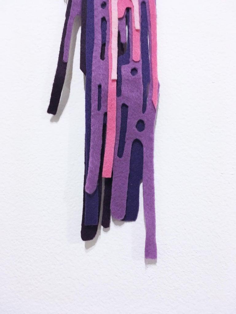 Tool of the Trade Brush #1, 2018, paint brush, drips, graffiti, purple, pink For Sale 3