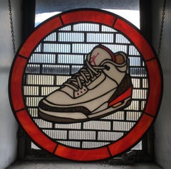 Jordan III, 2020, Stained Glass window, Nike, White, Red, Sneaker, Air Jordan