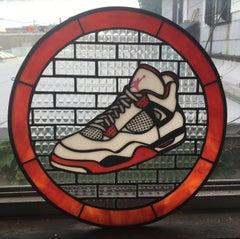 Jordan IV, 2020, Stained Glass window, Nike, White, Red, Sneaker, Air Jordan