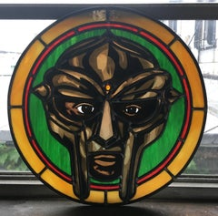 MF DOOM, 2020, Stained Glass window, hip hop, metal face, rap, icon, madvillain