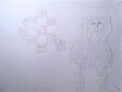 Natural History, 2020, gel pen, paper, figurative, drawing, pink