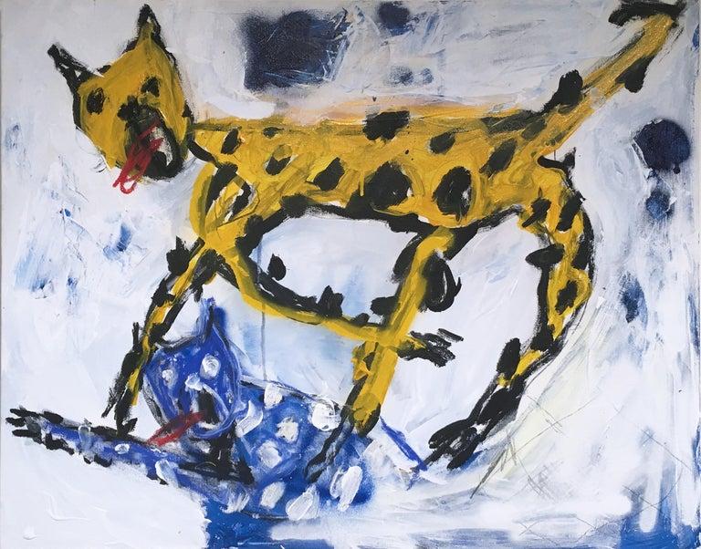 Kyle Orlando Animal Painting - It's All Horseplay & Ashtrays, 2020