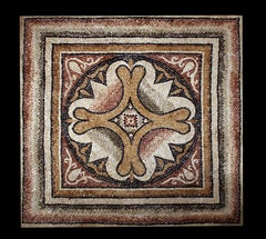 Important Roman Mosaic, circa 2nd-3th century AD with a geometric motive