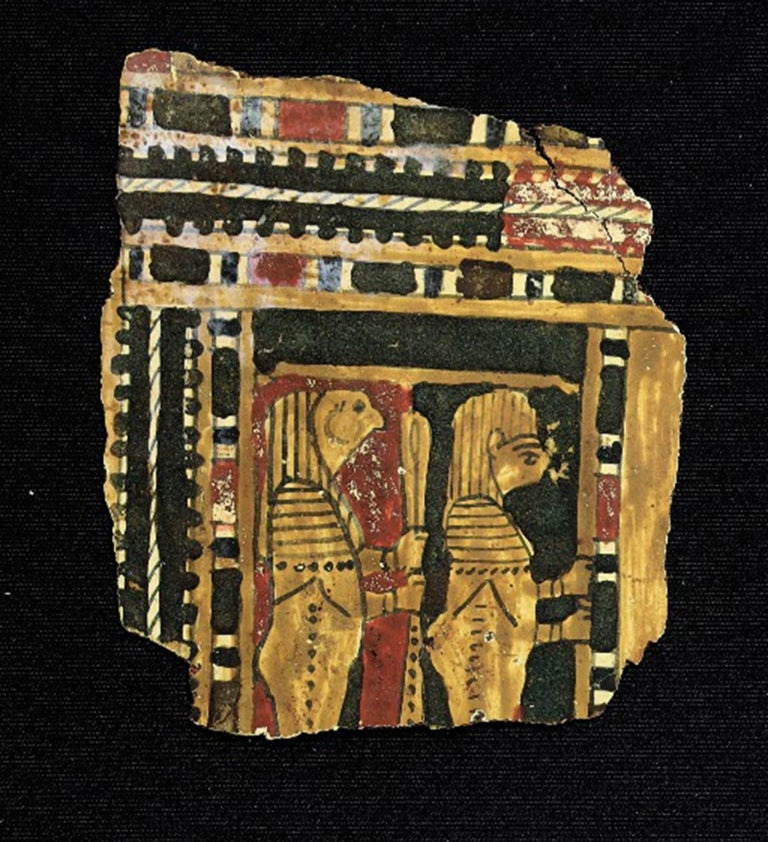 Set of Egyptian cartons with figures of the four gods. c. 300 a. C. For Sale 2