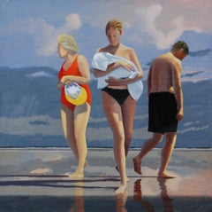 """"""" Jersey Shore # 21 """"   David Ahlsted  Oil on Canvas, 24 x 24"""""""