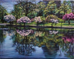 "A Restful Rejuvenation ( Wade Lagoon) 16"" x 20 "" Impressionism  In Stock"