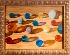 "Harmony of the Spheres  Steven Jones Oil/Tempera on panel 14.5"" x 18.5"""