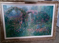 """""""Rose Arches, Giverny""""   Impresionism  Framed :42 5/8"""" x 30 1/2""""  """"In Stock"""""""