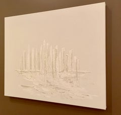 """City of Love""   White on White Acrylic Original Painting      $1900"