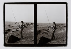 Hideoki, Black & White Photography, Fishing with a Babe, Montauk, 1973