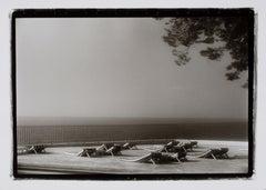 "Hideoki, Black & White, Photography, Lounge Chairs, France, 1994, 16"" x 20"""
