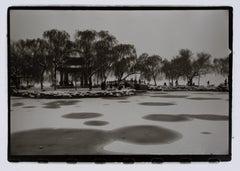 """Hideoki, Black & White, The Frozen Lake, China, 1998, 16"""" x 20"""""""