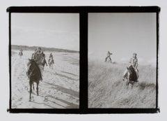 Hideoki, Black & White Photography, Horseback Riding, Montauk, 1970