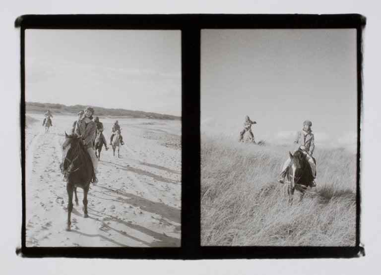 Hideoki Hagiwara Black and White Photograph - Hideoki, Black & White Photography, Horseback Riding, Montauk, 1970