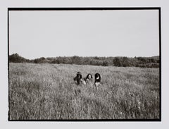 Hideoki, Black & White Photography, Two Women and a Dog, Montauk, 1970