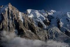 Aiguille du Midi & Mont Blanc from above Chamonix, France
