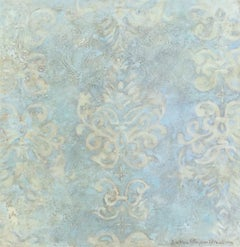 Blue Damask, abstract