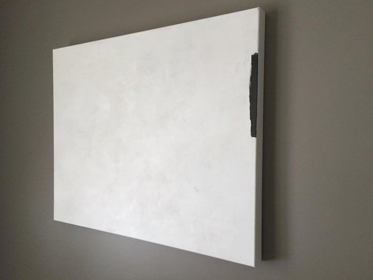 Untitled (abstract #15) - Gray Abstract Painting by Andrea Stajan-Ferkul