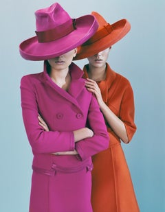 Lily & Freja in Dior – Emma Summerton, Dior, Fashion, Pink, Orange, Woman, Hat