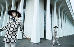 Aymeline x 2 – Emma Summerton, Black and White, Patterns, Architecture, Fashion