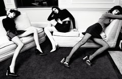 Alexandra, Lisa & Katlin – Emma Summerton, Model, Black and White, Legs, Tights