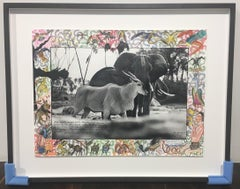 Elephant and Eland - Contemporary, Animal, Landscape Photography, Peter Beard