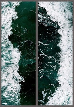 Invisible Seascape #7-1/7-2 – Jun Ahn, Ocean, Waves, Blue, Photography, Art