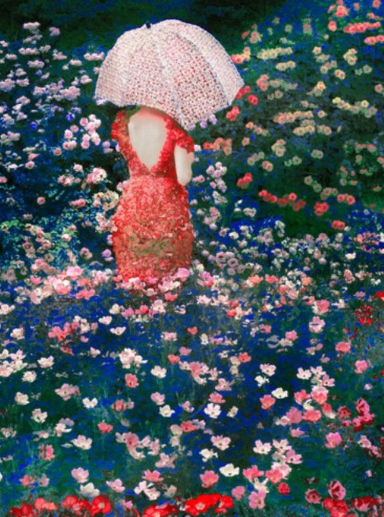Umbrella, from the series 'The Garden' – Erik Madigan Heck, Flower, Garden - Contemporary Photograph by Erik Madigan Heck