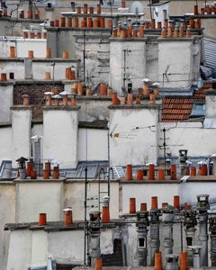 paris roof tops 6 – Michael Wolf, City, Colour, Paris, Photography, Chimneys