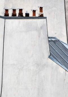 paris roof tops 15 – Michael Wolf, Cityscape, Colour, Chimneys, Building Wall