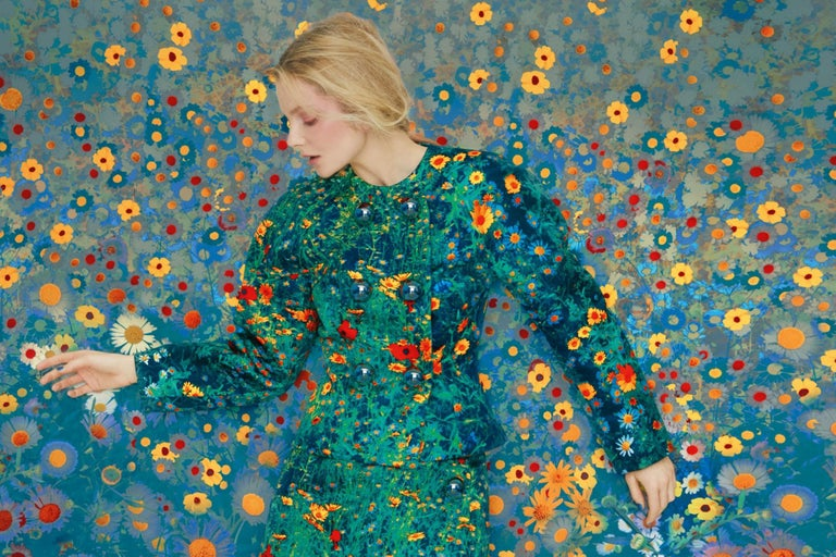 Erik MADIGAN HECK (*1983, United States) Eniko in Flowers, Archive, 2020 Chromogenic print 101.6 x 152.4 cm (40 x 60 in.) Edition of 9, plus 2 AP; Ed. no. 1/9 print only  Originally from Excelsior, Minnesota, Erik Madigan Heck (*1983) is one of the
