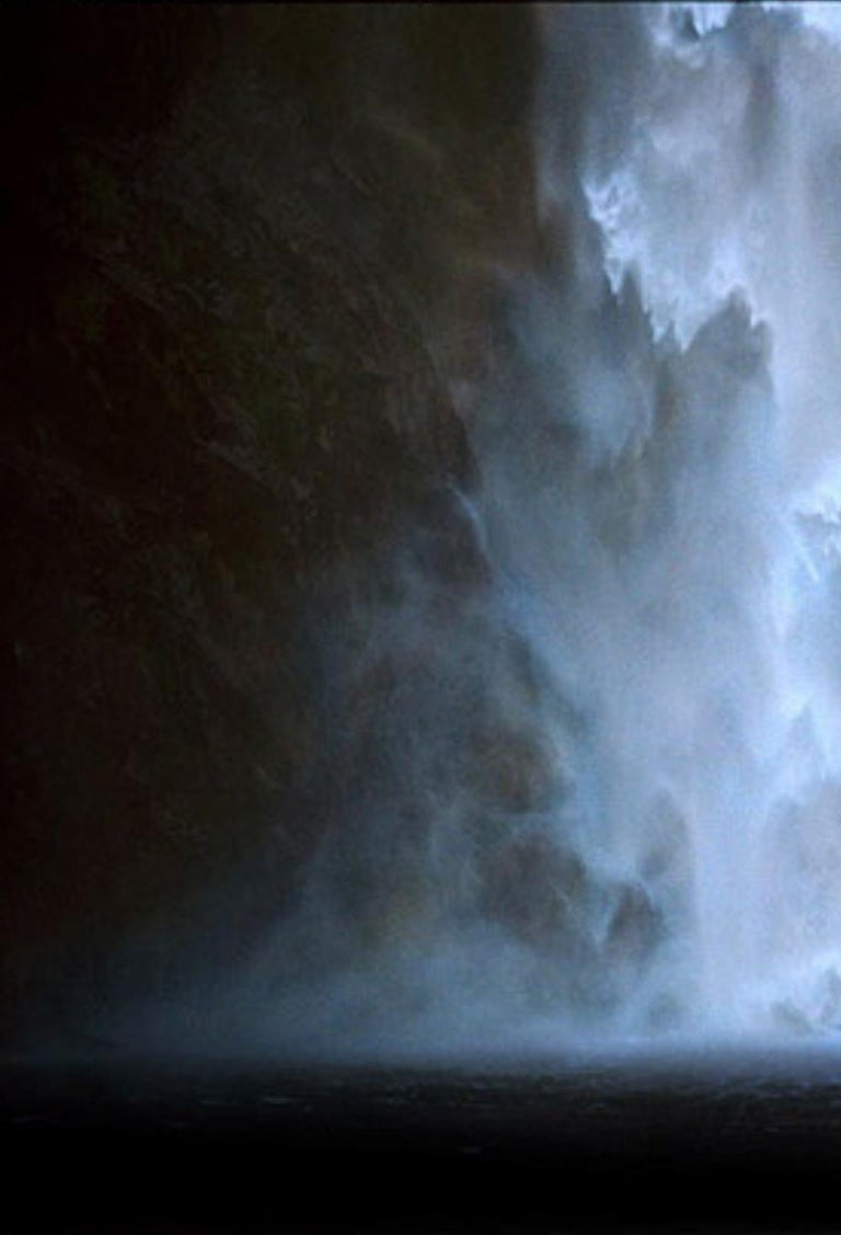 Untitled #17 - CL SH686 N26 – Bill Henson, Waterfall, Water, Nature, Landscape - Black Color Photograph by Bill Henson