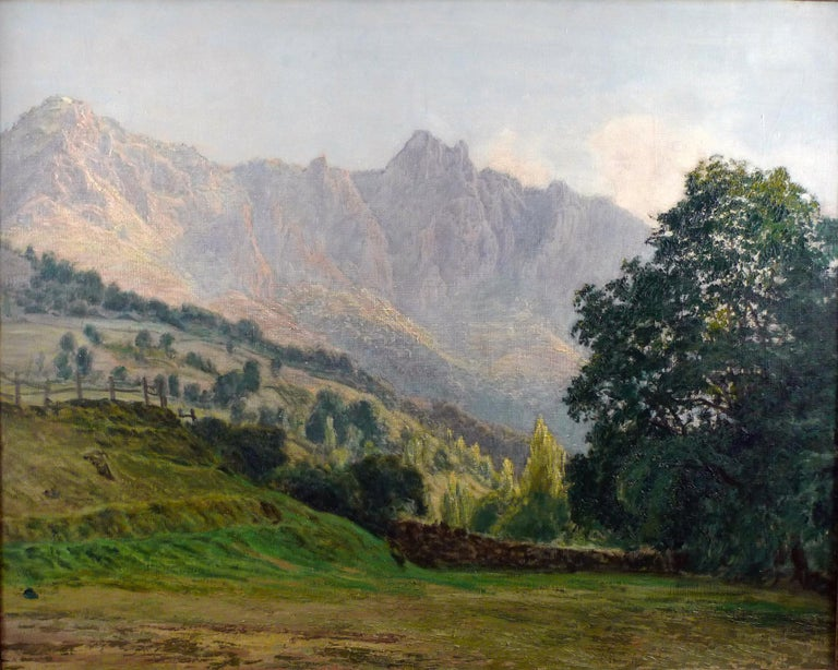 FRANCISCO NUÑEZ LOSADA Spanish, 1889 - 1973 LOS PICOS DE EUROPA unsigned  oil on canvas 31-5/8 X 39-1/2 inches (80 X 100 cm.) framed: 35-1/4 X 47 (89 X 119 cm.)  PROVENANCE Private Spanish Collector, San Sebastian, Spain  Born in 1889 in Candelario,