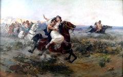 """""""El Rapto de las Sabinas"""", 19th Century Oil on Canvas by Ulpiano Checa"""