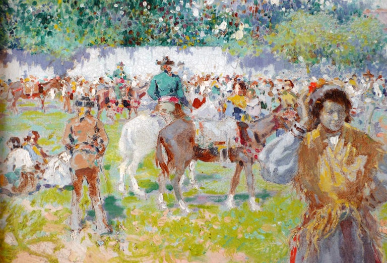 ALBERTO PLÁ Y RUBIO Spanish, 1867 - 1937 AT THE ANNUAL FAIR signed & dated