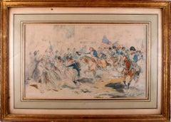 """The Entrance of Washington to Philadelphia in 1778"",Watercolor by V. de Paredes"