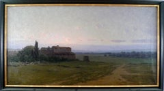 """""""Catalonia Landscape"""", Early 20th Century Oil on Canvas by Modest Urgell"""