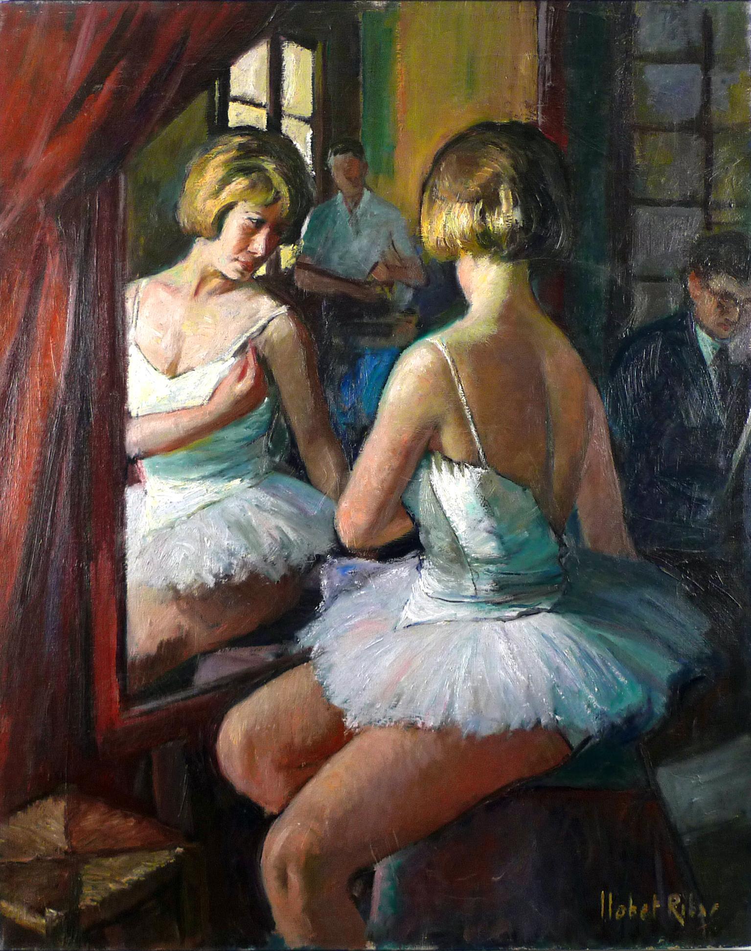 """Ballet Lessons"", 20th Century Oil on Canvas by Sebastián Llobet Ribas, Spanish"