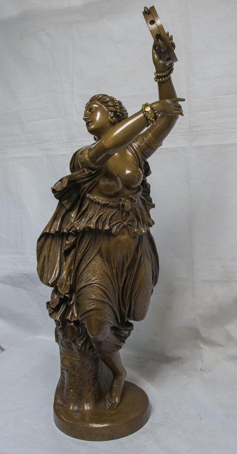 Dancer Zingara - Sculpture by Jean-Baptiste Auguste Clésinger