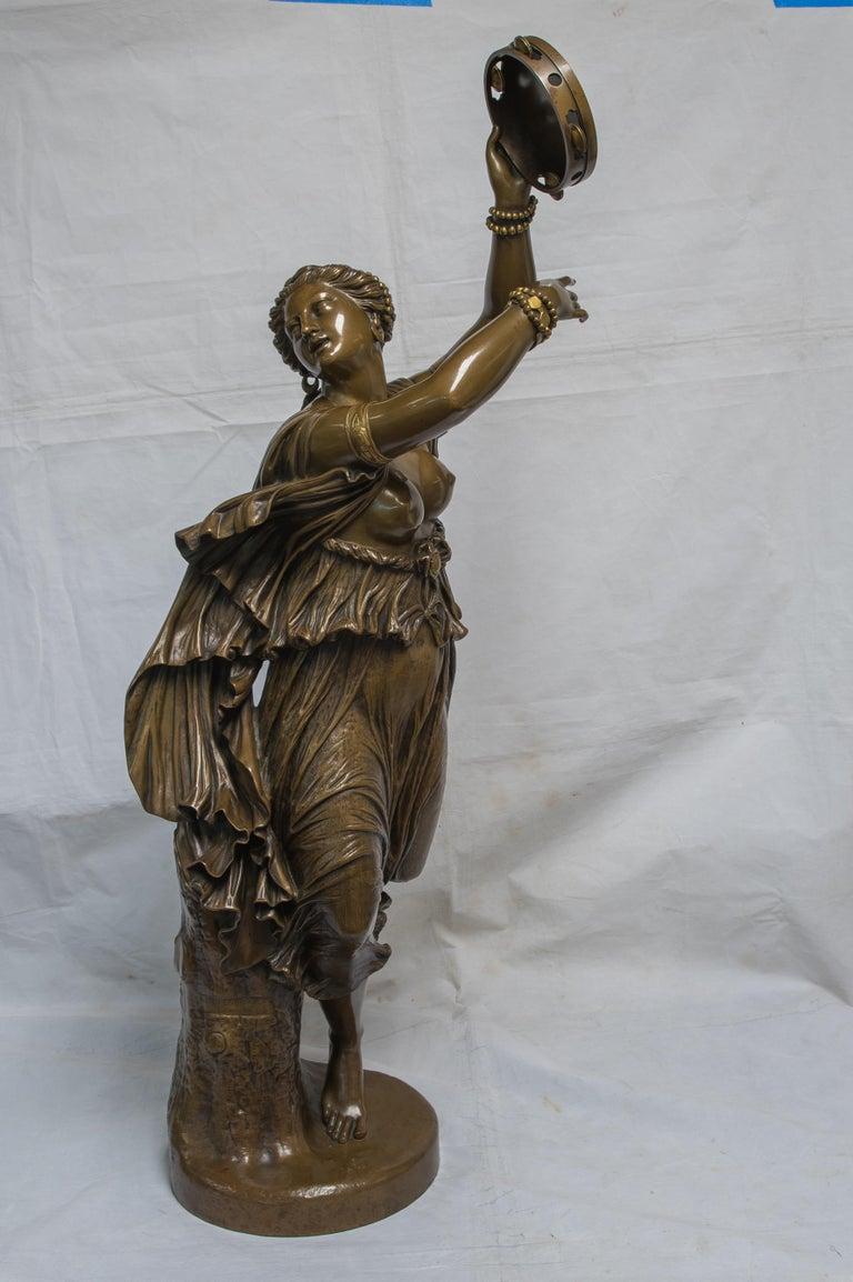 Jean-Baptiste Auguste Clésinger Figurative Sculpture - Dancer Zingara