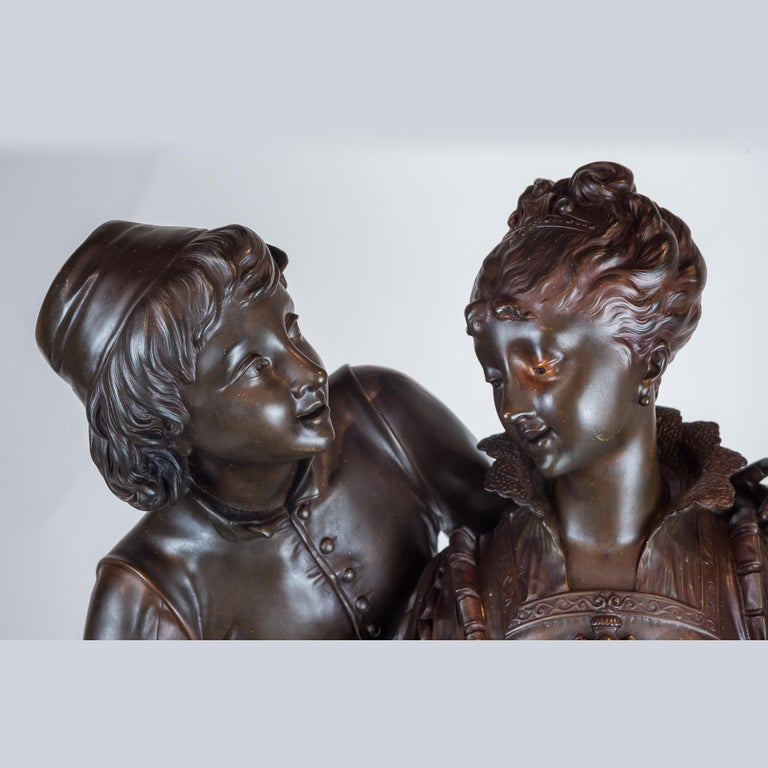 Bronze Sculpture of Two Lovers For Sale 2