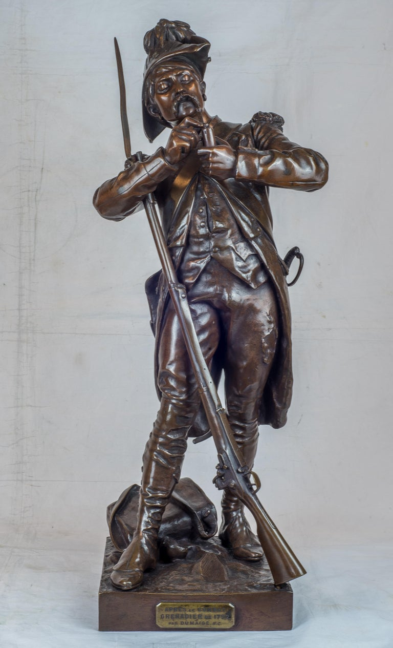 Avant Le Combat, Apres Le Combat - Sculpture by Etienne-Henri Dumaige