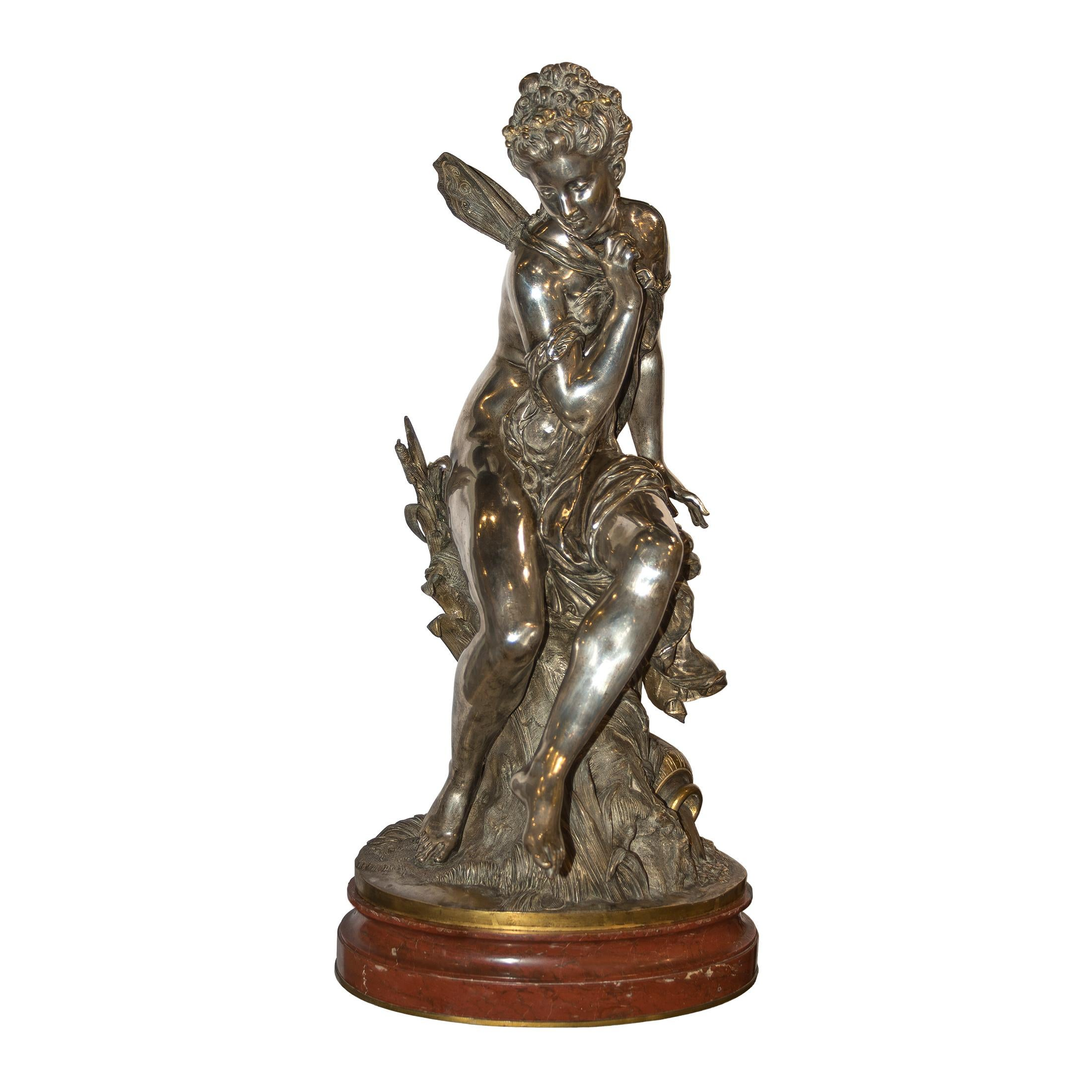 Silvered Bronze Figure of Psyche
