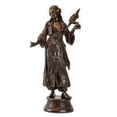Patinated Bronze Statue of a  Dancing Female Gypsy