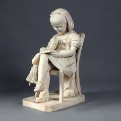Italian Carrara Marble Sculpture by L. TOLDUCCI