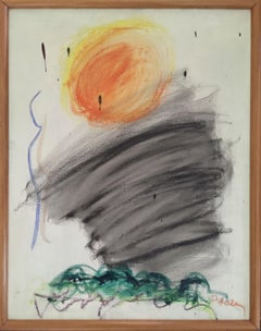 "1962 Abstract Expressionism ""Little Sun"" Dorothy Heller Mid Century Painting"