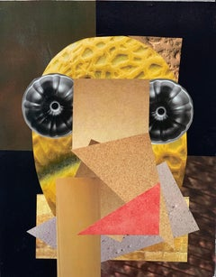 """NYC Artist """"Bumblebee"""" Abstract Collage"""