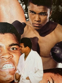"""NYC Artist """"Cassius Clay"""" Abstract Collage"""