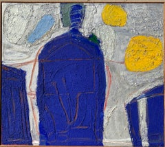 """Mexican Night"" 1950s Abstract Painting Female NYC Artist Brooklyn Museum"