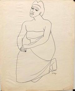 1950s Ink Line Drawing Mid Century Art Museum of Modern Art